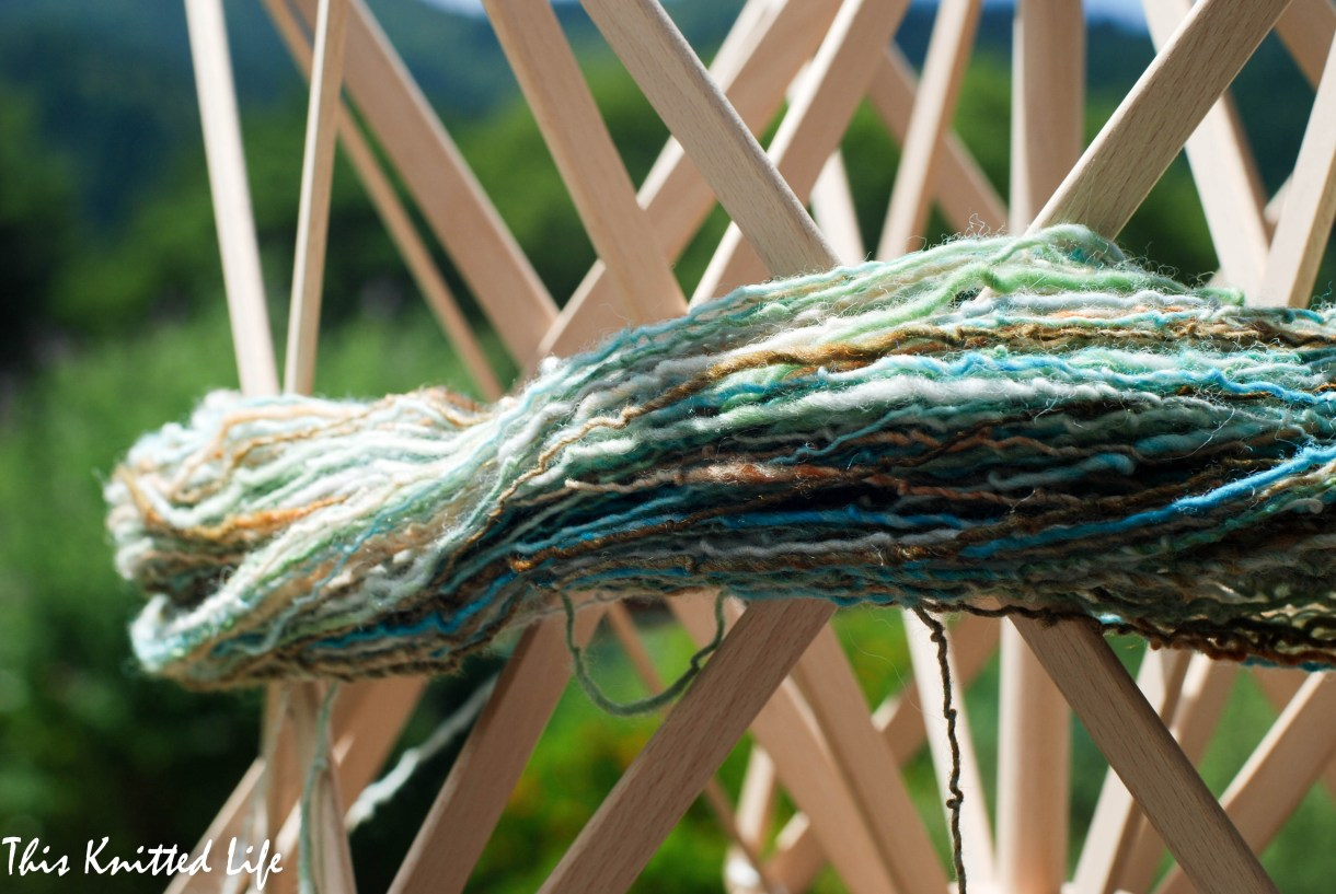 A good swift will save you SO much time! Hand spun yarn doesn't hurt either...