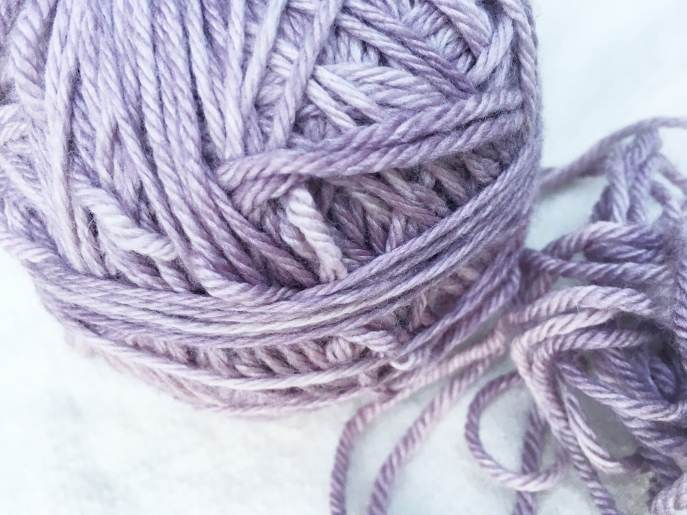 Madelinetosh Pashmina Worsted in Sugar Plum. On its way to becoming a hat.