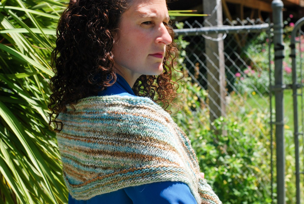 Rainland Shawlette by This Knitted Life. Pattern provides instructions for both DK and Sport weight yarn. Amazing one skein wonder. Sometimes simple is better.