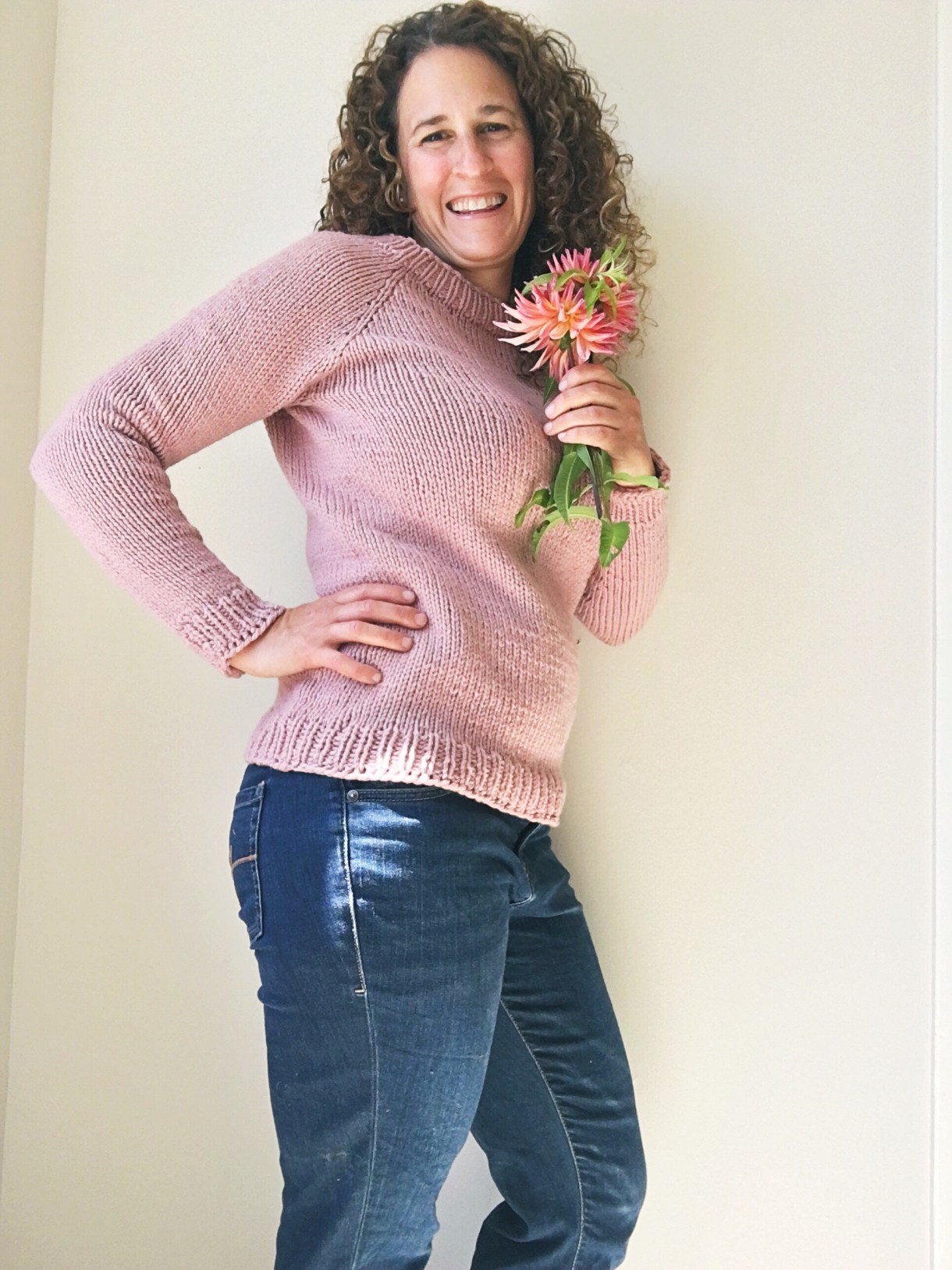 Lesley Pullover by Hannah Fettig. Knit by Andrea @ This Knitted Life.
