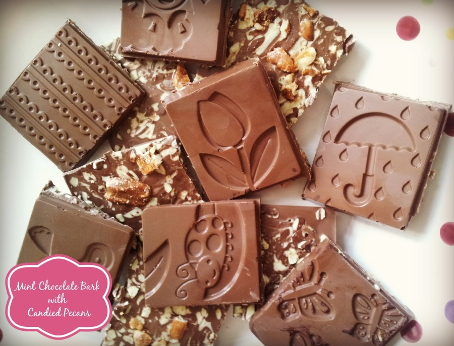 Mint Chocolate Bark with Candied Pecans Recipe