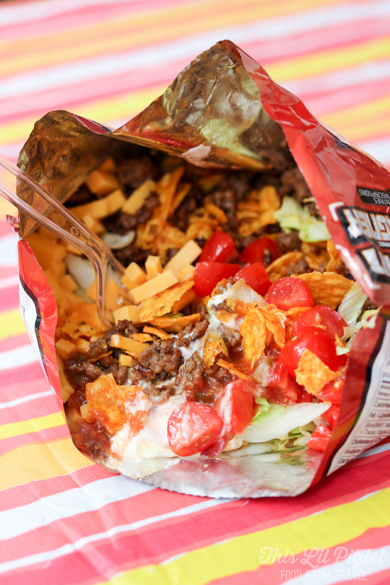 Camping Food Campfire Taco In A Bag