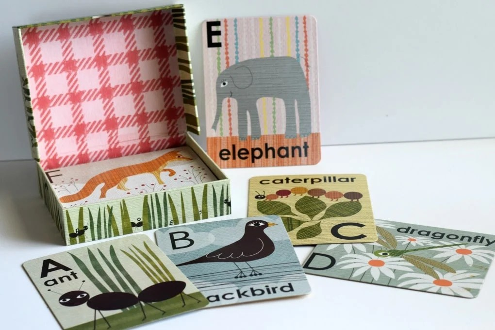 Three Year Old Homeschool Preschool: Alphabet Animal Flashcards from Anthropologie by This Little Home of Mine