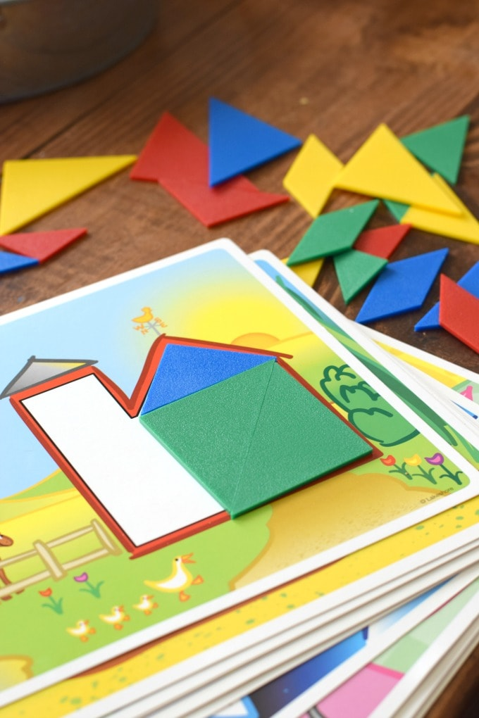 Homeschool Preschool Math Tangrams by This Little Home of Mine