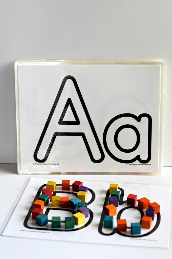 Playdoh Mats from ABC Jesus Loves Me - Featured on This Little Home of Mine