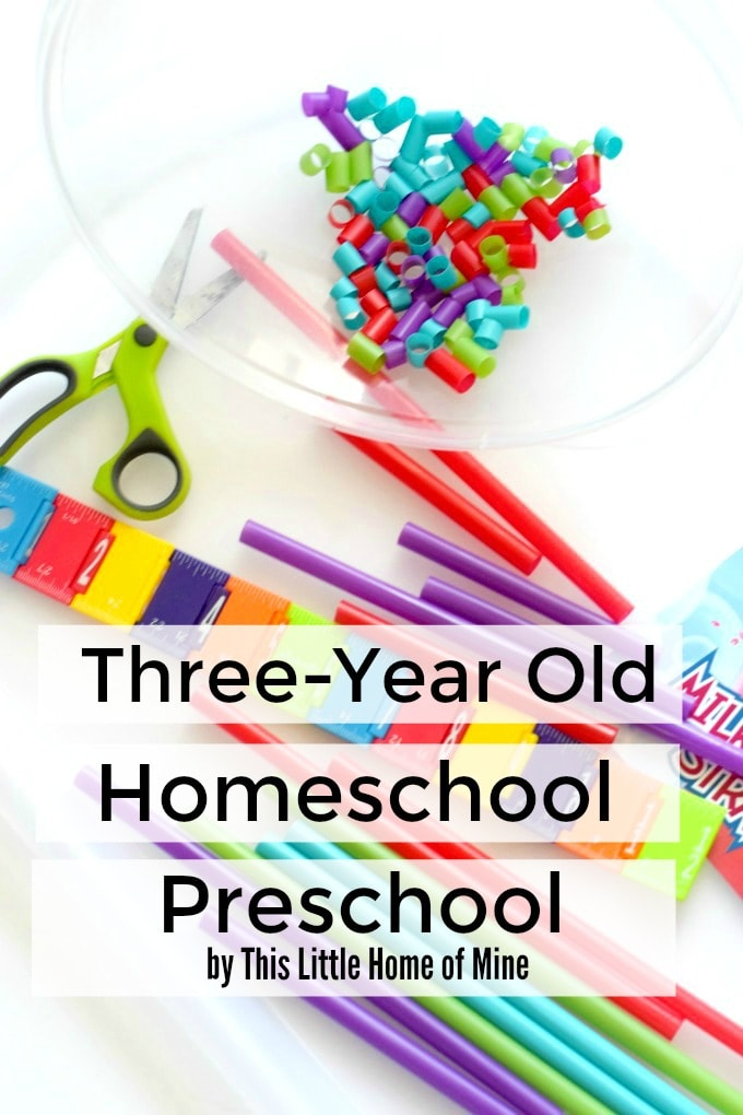 Three Year Old Homeschool Preschool - Preschool at Home - by This Little Home of Mine