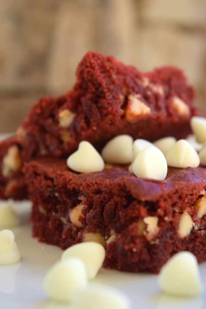 Red Velvet Brownie Bars by This Little Home of Mine