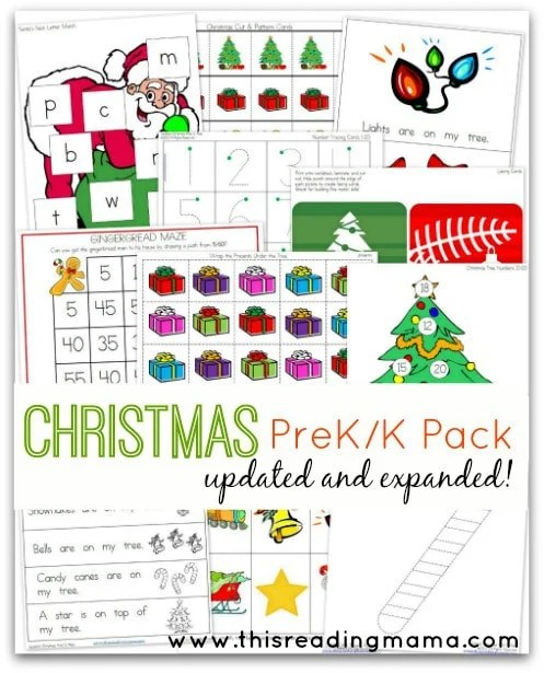 Christmas Packet for Pre-K and Kindergarten