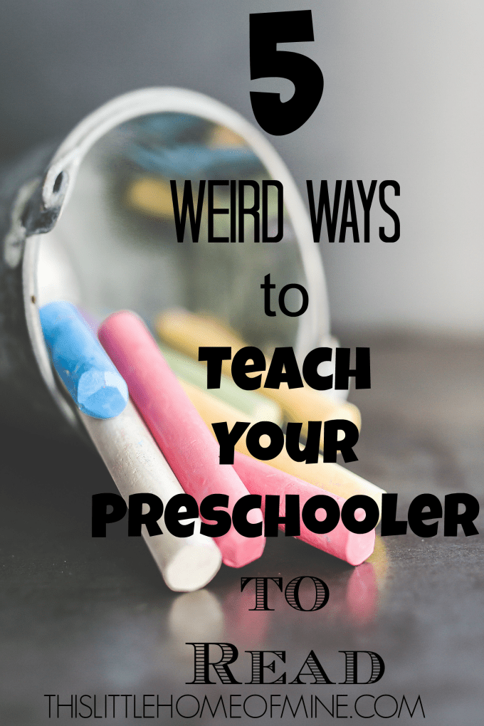 5 Weird Ways to Teach Your Preschooler to Read Sight Words by This Little Home of Mine