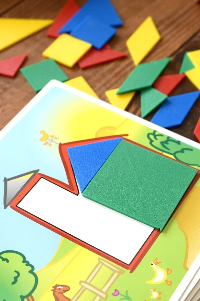 Homeschool Preschool Farm Unit Math Tangrams by This Little Home of Mine