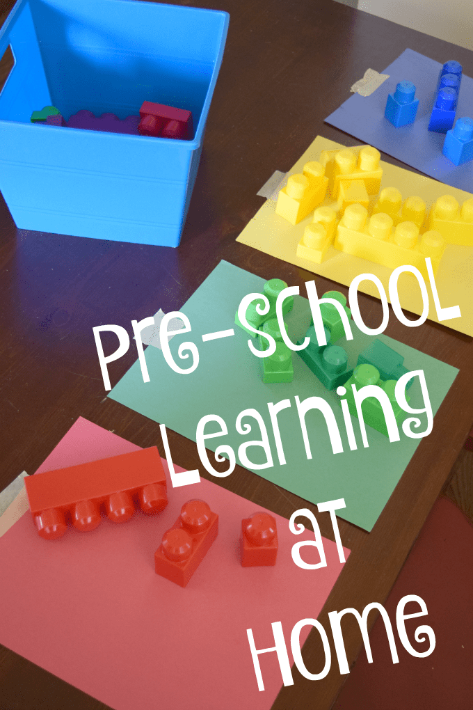 Pre-school Learning at Home: Lego Color Sort - Sorting Activity by This Little Home of Mine