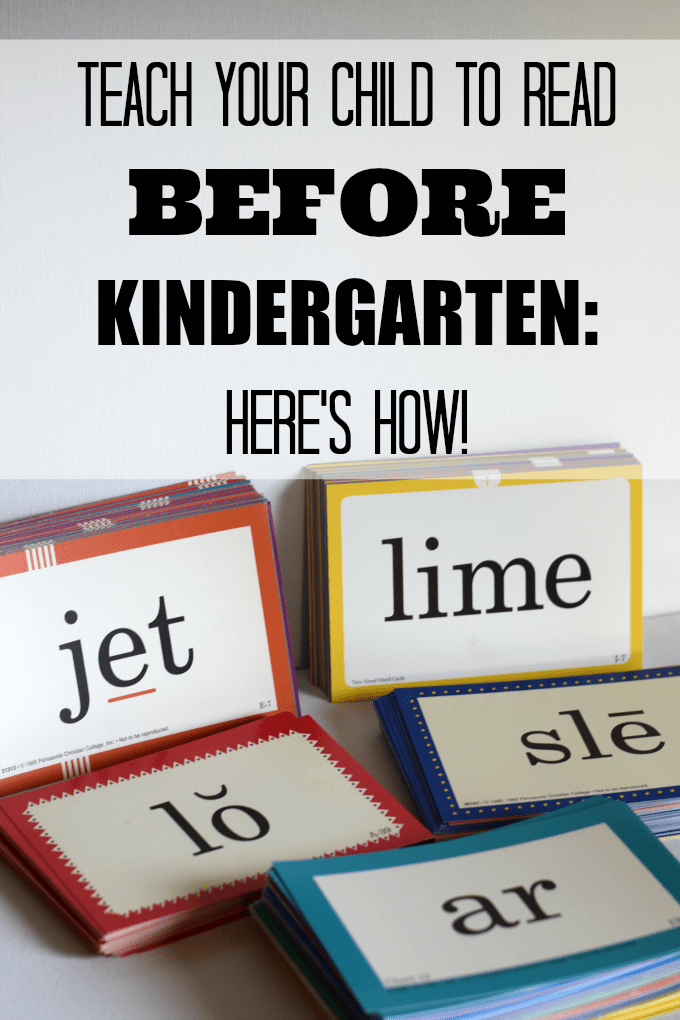 Teach Your Child to Read Before Kindergarten by This Little Home of Mine