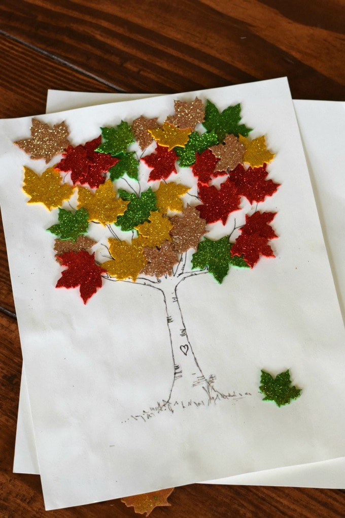 Thanksgiving Day Activities for Kids - Leaves on Tree by This Little Home of Mine