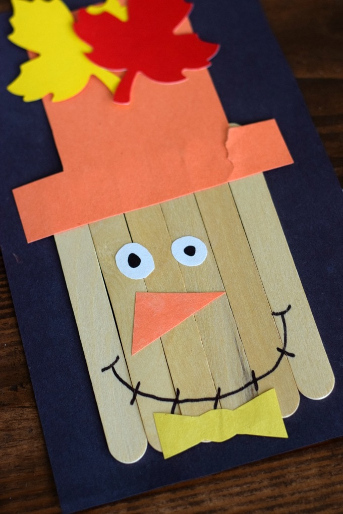 Thanksgiving Day Activities for Kids - Scarecrow Craft by This Little Home of Mine
