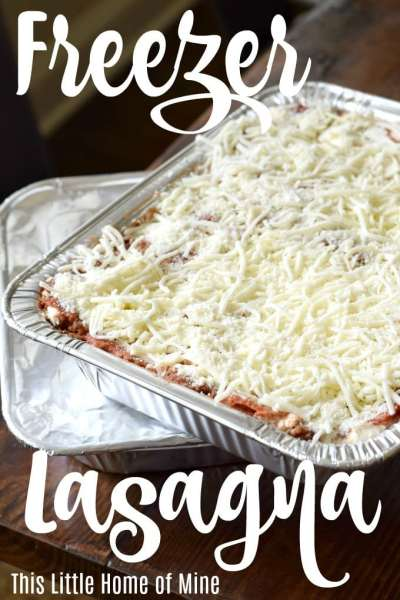 Freezer Lasagna: Featuring Trisha Yearwood's Cowboy Lasagna