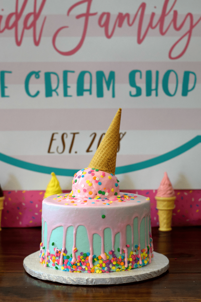 Marvelous Ice Cream Themed Birthday Party This Little Home Of Mine Funny Birthday Cards Online Ioscodamsfinfo
