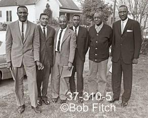 Candidates for Office, Alabama 1966. L to R: James Calhoun, Donnie V. Irby, James Perryman, James Robinson, Rev Frank Smith, Rev Lonnie Brown