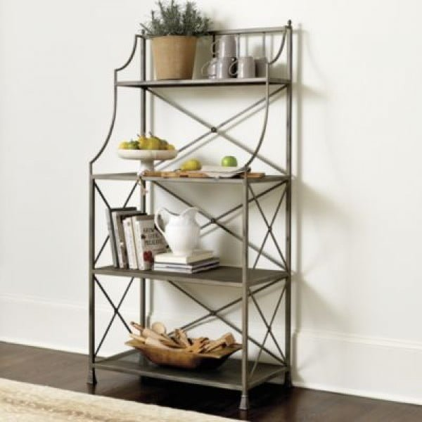 20 creative baker s rack decorating ideas
