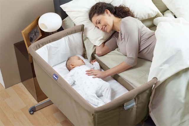 The Chicco Next2Me allows side-sleeping (parents to sleep with their child next to the bed, as opposed to in the bed) in compliance with expert safety advice. What I love about this crib is that you have the option to add the extra side on once baby is ready to move into their own room.