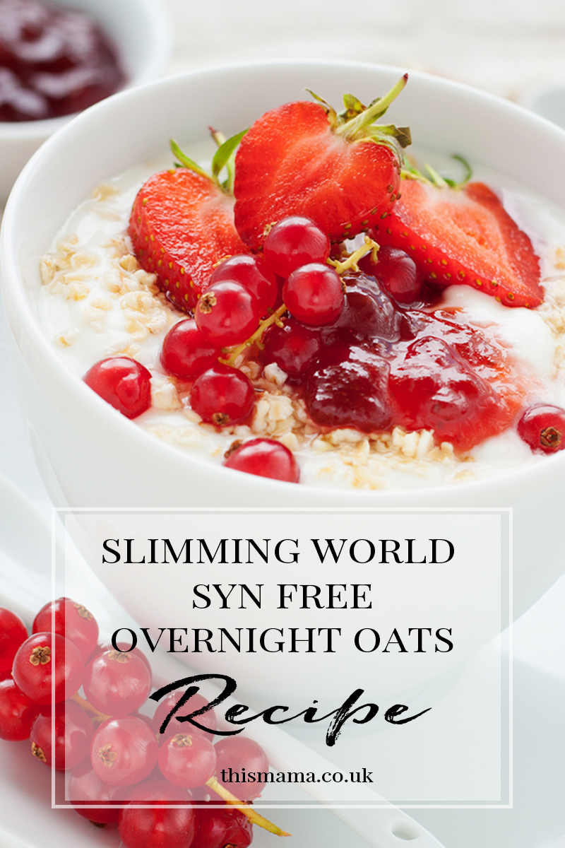 I did try overnight oats a while back but just wasn't that keen on the taste when using natural yogurt but this time around I've been using flavoured fat free yogurts to make Slimming World Overnight Oats for a syn free breakfast and it makes such a difference. This recipe is super simple, and really quick to make, although you do need to prep it the night before for the the best results.