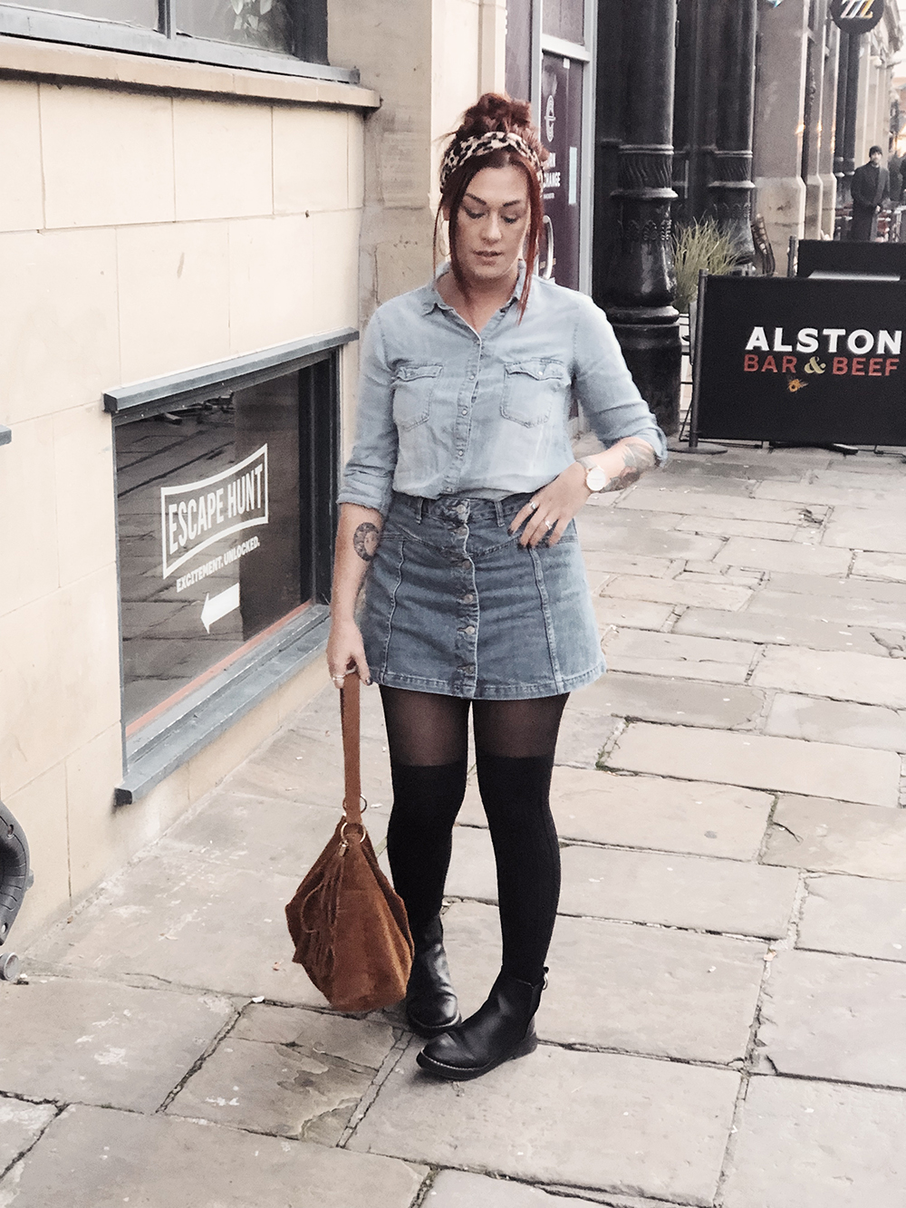 Double denim outfit inspired by Holly Willoughy #thismamastyle #mumstyle #over30fashion #mumfashion #momstyle