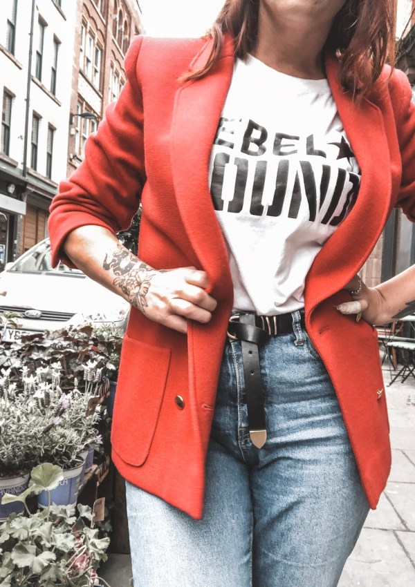 ROCKING A RED BLAZER