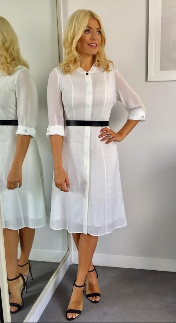 Holly Willoughby's shirt dress