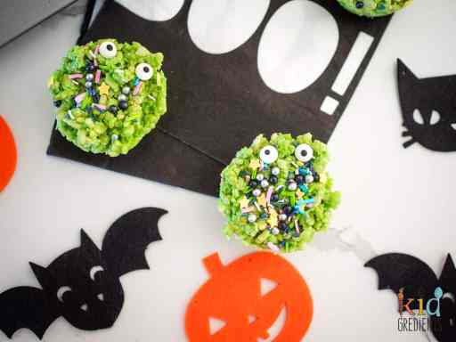 Cheap Halloween treats with rice crispies