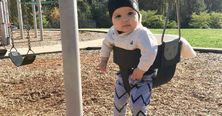Why Fresh Air is Good for Babies and Hudson's First Time on the Swing!