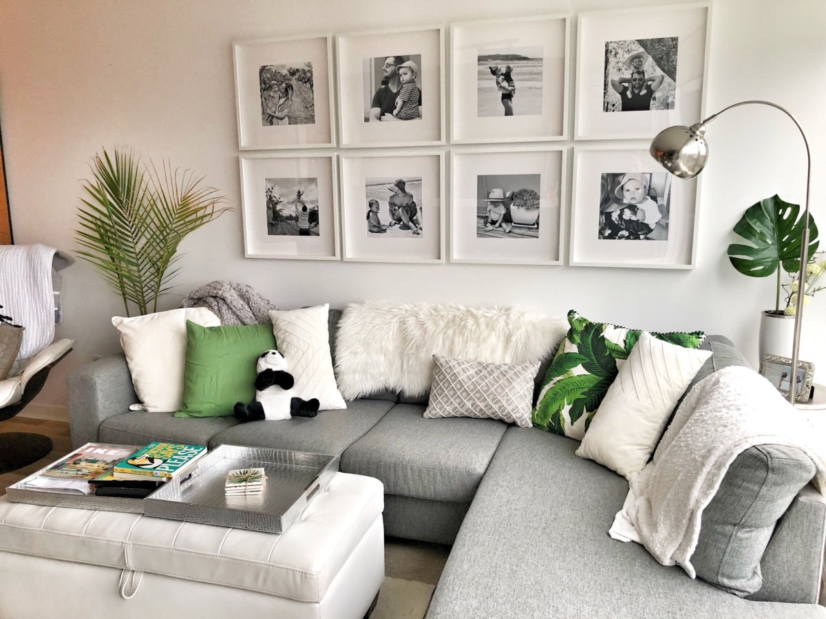 beautiful gallery wall of family photos