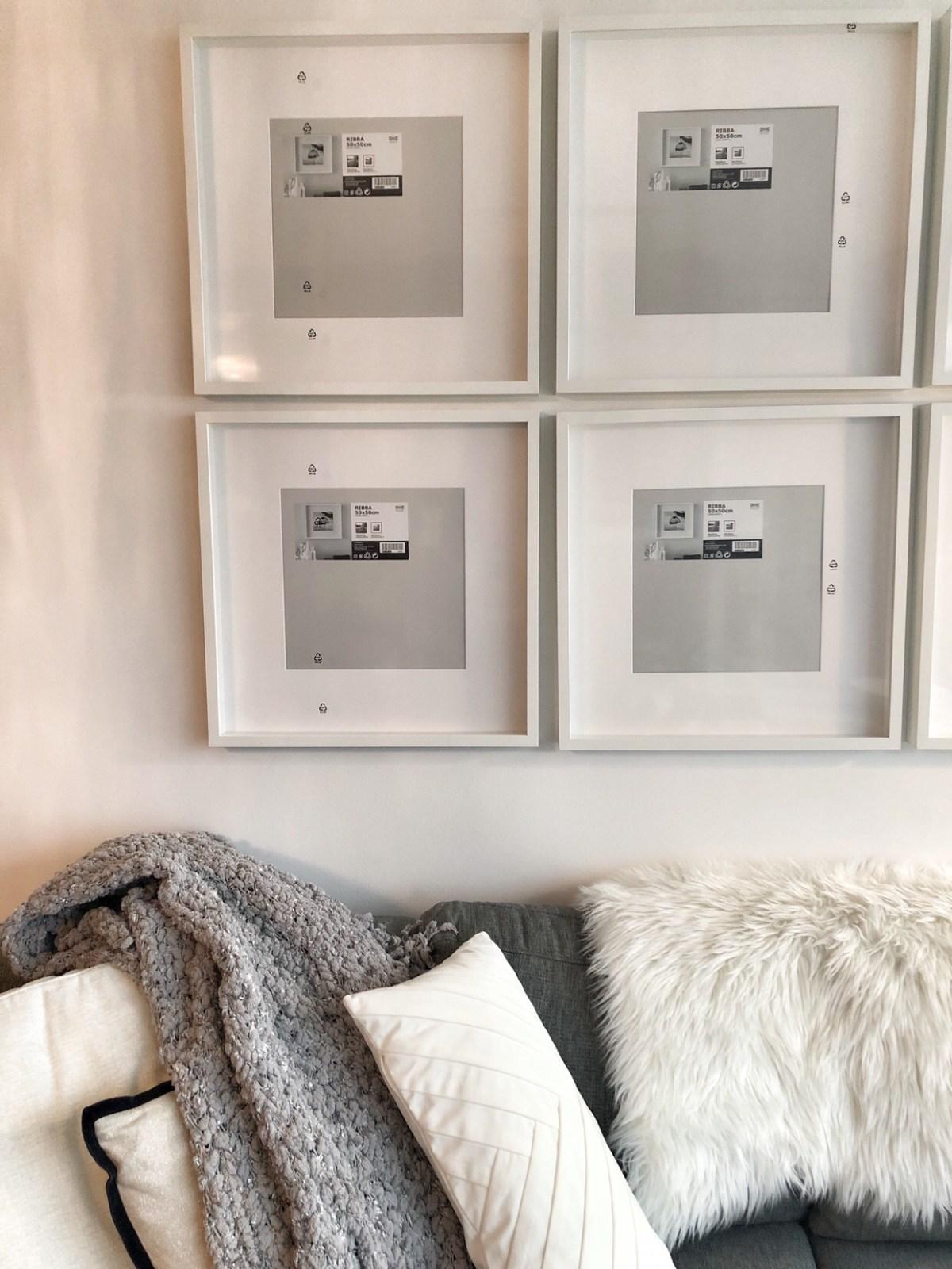 ikea frames RIBBA gallery wall