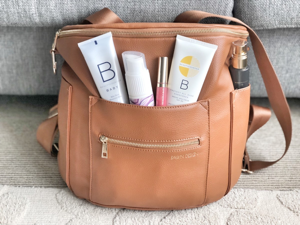 safe beauty items for traveling mama