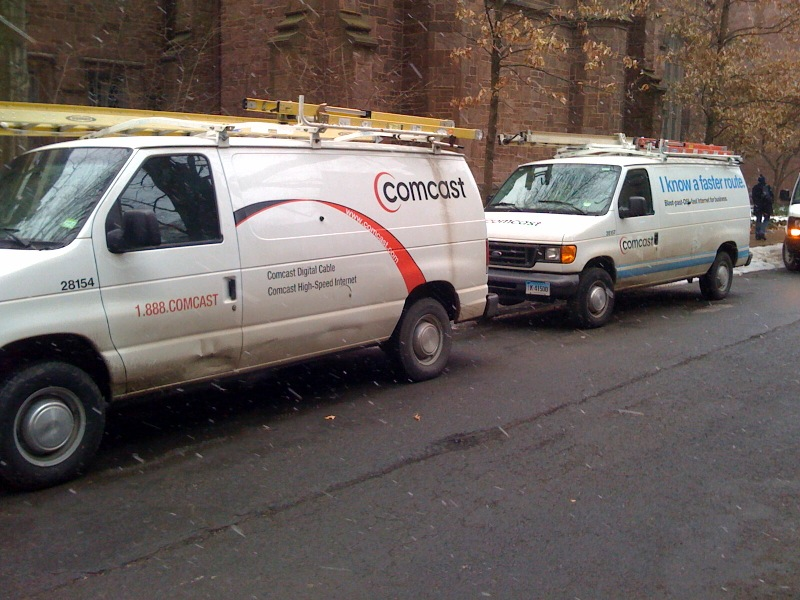 Comcast trucks, Yale University