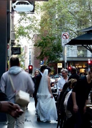 Bride in Flinders Lane