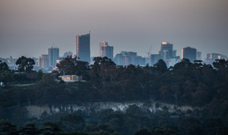 View of city from Kew
