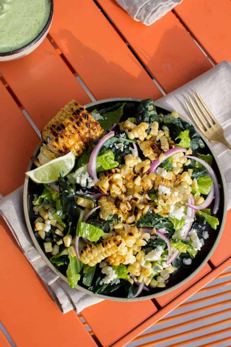 Elote Salad recipe by @beardandbonnet on www.beardandbonnet.com