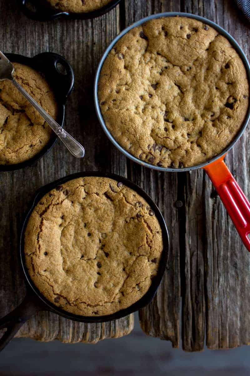 Deep Dish Chocolate Chip Skillet Cookie | This Mess is Ours