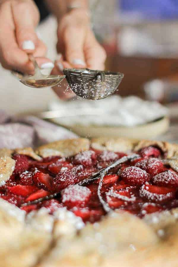 Mixed Berry & Earl Grey Galette recipe || Tart & sweet with a nutty crust, this galette is the stuff that summertime dreams are made of! || @pamelasproducts