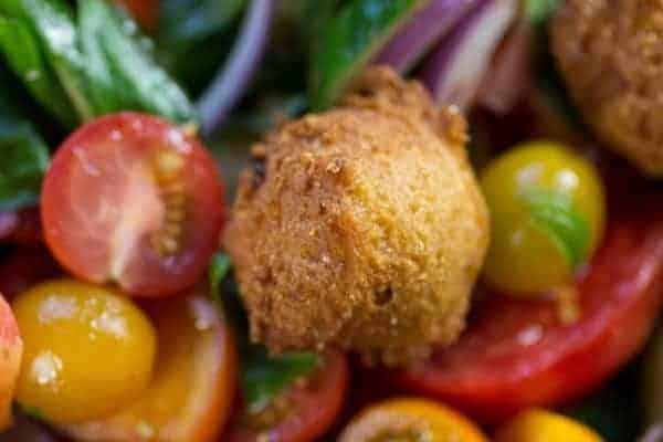 Hushpuppy Panzanella recipe    @thismessisours