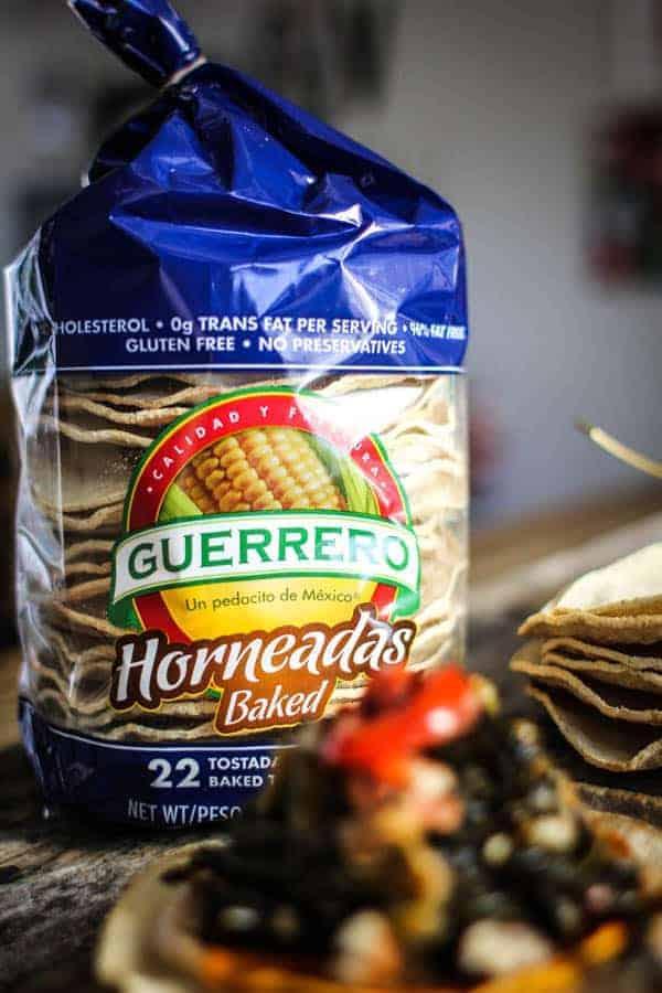 Guerrero baked tostadas with sea salt
