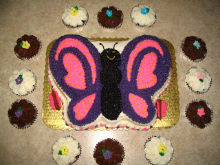Butterfly party cake