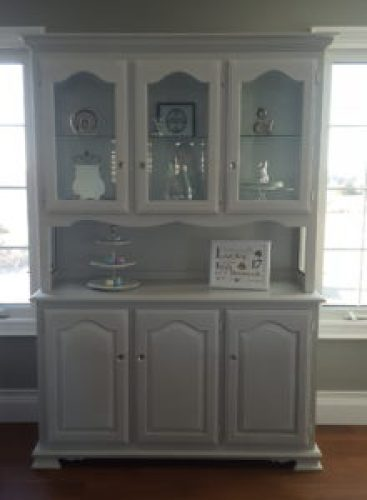 Buffet hutch Fusion Mineral Paint Sterling