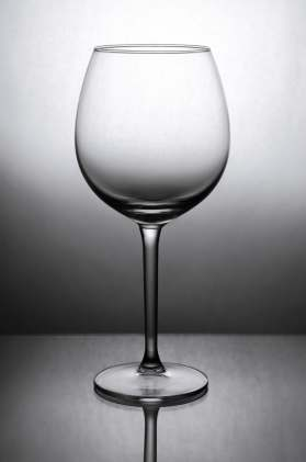 self care empty glass