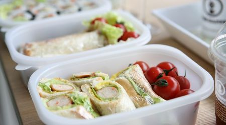 packed lunch box