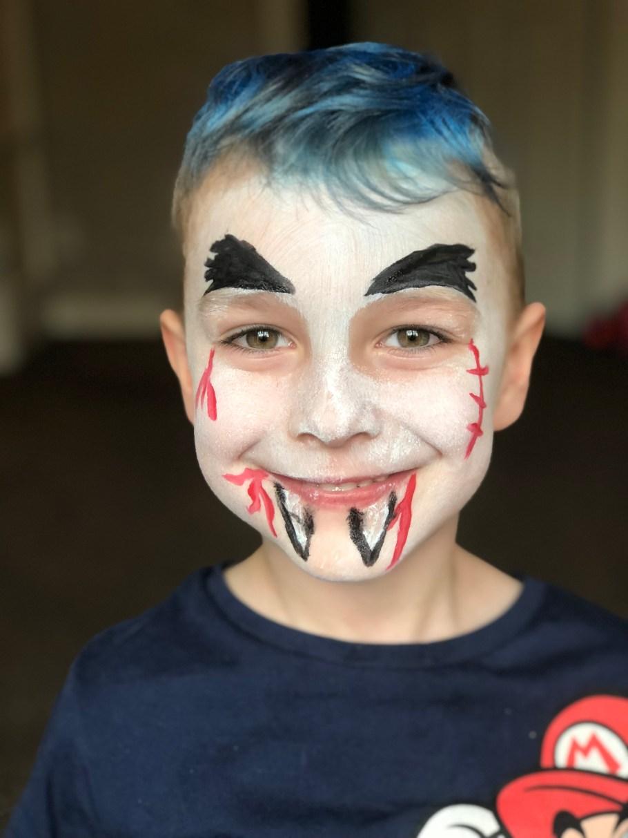 step 5 vampire halloween face paint