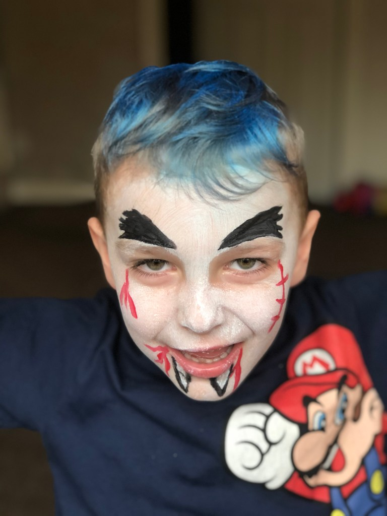 Last Minute Halloween Face Paint For Kids With Snazaroo #AD