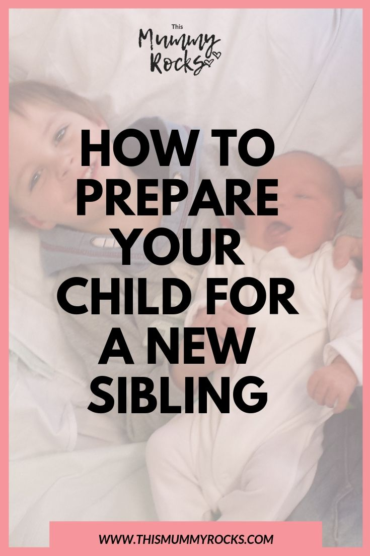 How To Prepare Your Child For A New Sibling PIN GRAPHIC