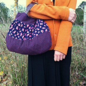 Emma makes pixie bag purple thrifted leather belt