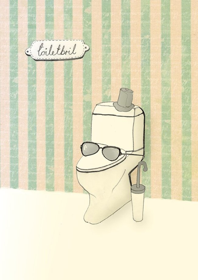 toilet glasses