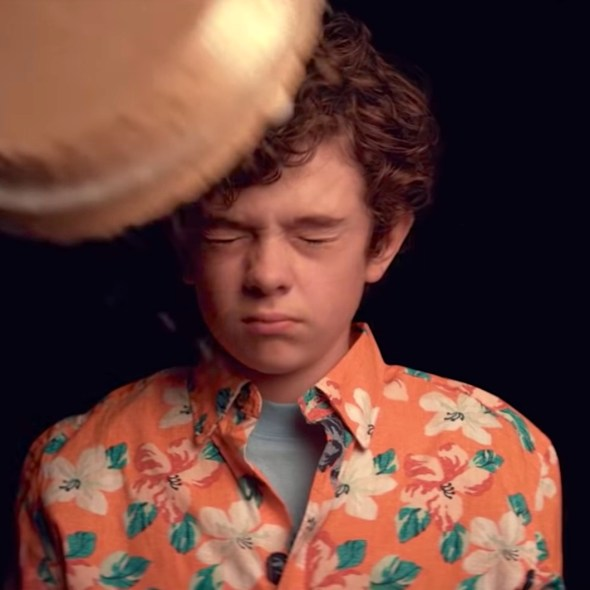 Honey Boy - Noah Jupe getting a cream pie in the face